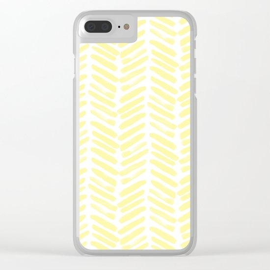 Handpainted Summer Sun Yellow Chevron pattern - Mix & Match with Simplicity of Life Clear iPhone Case