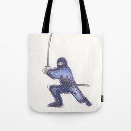 Blue Ninja Tote Bag