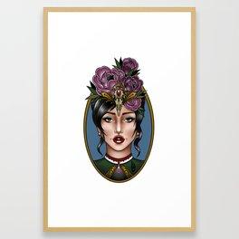 Lady Head Framed Art Print