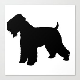 Soft Coated Wheaten Terrier Silhouette Canvas Print