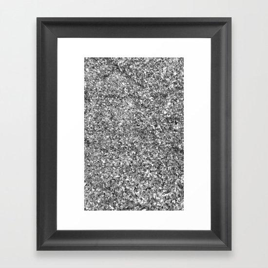 SILVER GLITTER Framed Art Print