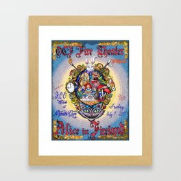 Alice in Fireland Framed Art Print
