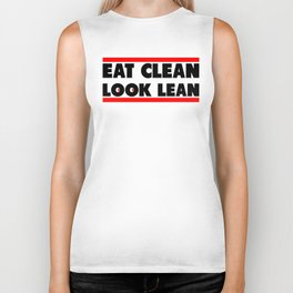 Eat Clean Look Lean | Fitness & Bodybuilding Motivation Biker Tank