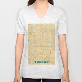 Tucson Map Retro Unisex V-Neck