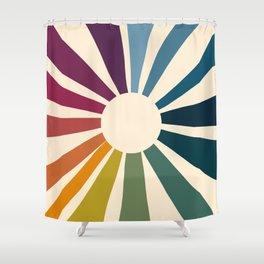 Retro Blossom Shower Curtain