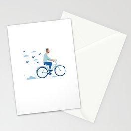 bird man bike Stationery Cards