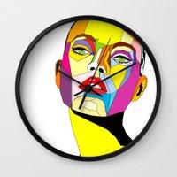 model Wall Clocks featuring Model by Floridana Oana