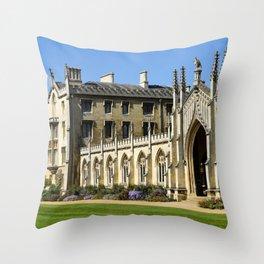 St. John's College, Cambridge Throw Pillow