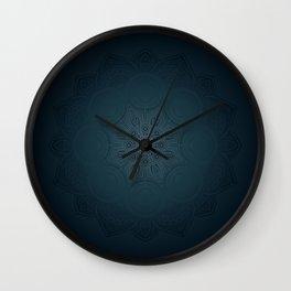 Midnight Mandala Wall Clock
