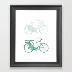 Bike Green Framed Art Print