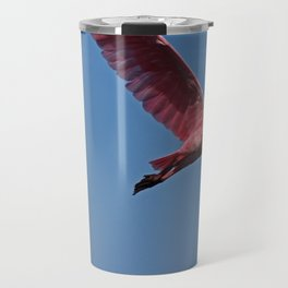 Roseate Spoonbill in Flight III Travel Mug