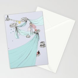 Skyfort - a daydream cloud fort in the sky Stationery Cards