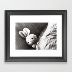 Plushy bunny Framed Art Print