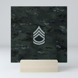 Sergeant First Class (Urban Camo) Mini Art Print