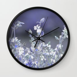 wildflower in the garden Wall Clock
