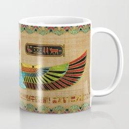 Egyptian Goddess Isis Ornament on papyrus Coffee Mug