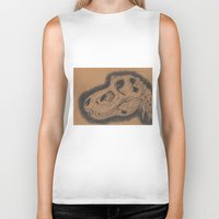 dinosaur Biker Tanks featuring Dinosaur  by My Pencil Said So