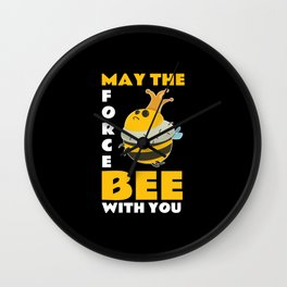 May The Force Bee With You Wall Clock