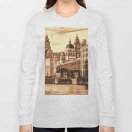 World famous Three Graces (Digital painting) Long Sleeve T-shirt