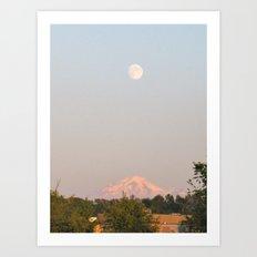 Moon Mountain Art Print
