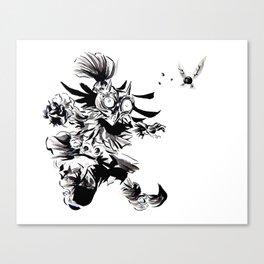 Skull Kid, Majora's Mask Sumi-e Canvas Print