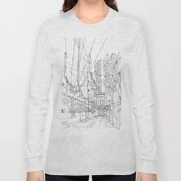 Shanghai. China. Yard full of wires Long Sleeve T-shirt