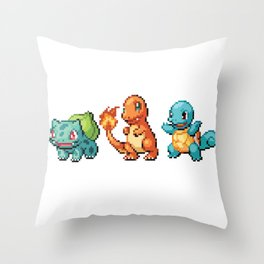 First Gen - Pixel Art Throw Pillow