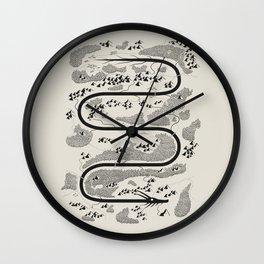 The River Dragon Wall Clock