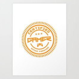 Certified Gamer Art Print