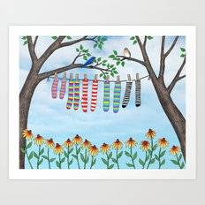 clean socks Art Print