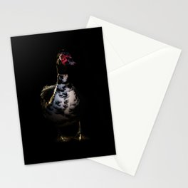 Muscovy Duck Portrait Stationery Cards