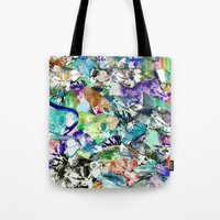 school Tote Bags featuring School by Nancy Smith