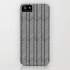 Herringbone Black iPhone (5, 5s) Slim Case
