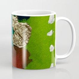Abstract with Gold Leaf Coffee Mug