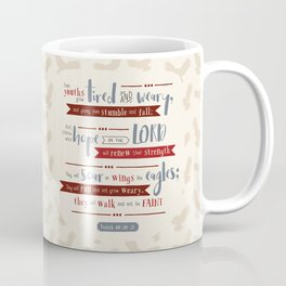"""Hope in the Lord"" Hand-Lettered Bible Verse Coffee Mug"