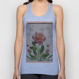 SHABBY CHIC CORAL ANTIQUE PINK ROSES Unisex Tank Top