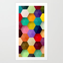 Abstract Colorful 3D Art Print