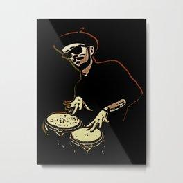 Bongo Beatin' Beatnik Metal Print