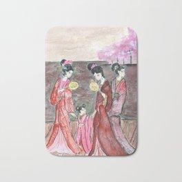 Four ancient Oriental beauties Bath Mat