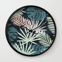 Tropicalia Night Wall Clock