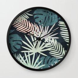 Tropicalia Night Wall Clock
