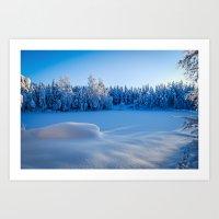swedish Art Prints featuring Swedish Winter by Mark W