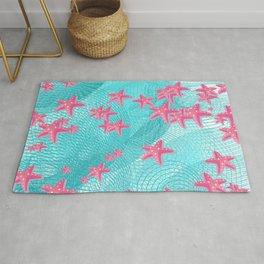 Pink starfish Rug