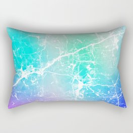 Modern turquoise purple watercolor abstract marble Rectangular Pillow