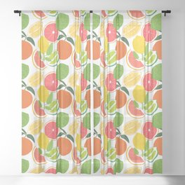 Citrus Harvest Sheer Curtain