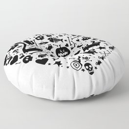 Halloween Heart Floor Pillow