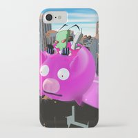 invader zim iPhone & iPod Cases featuring Invader Zim by inusualstuff