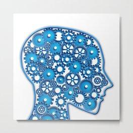 blue head Metal Print