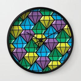 dimonds flow Wall Clock