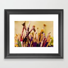 Paintbrushes Framed Art Print